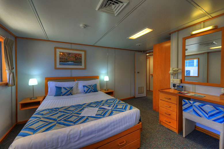 Coral Expeditions I upperdeck stateroom