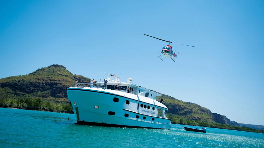 Kimberley Quest Helicopter Landing