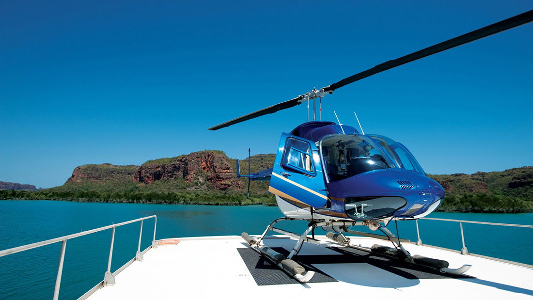 Kimberley Quest helicopter