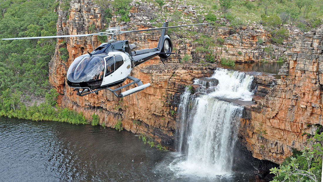True North Eagle falls heli shot