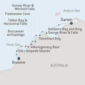 Ponant iconic Kimberley map