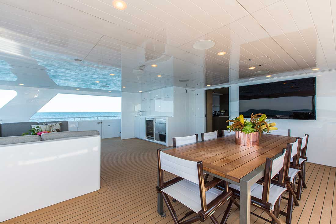 Ocean Dream aft deck dining