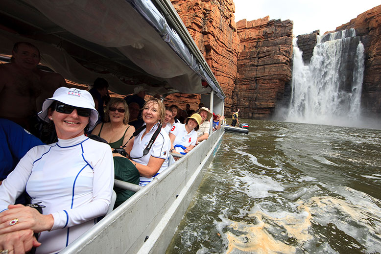 Coral Expeditions guests enjoying King George falls