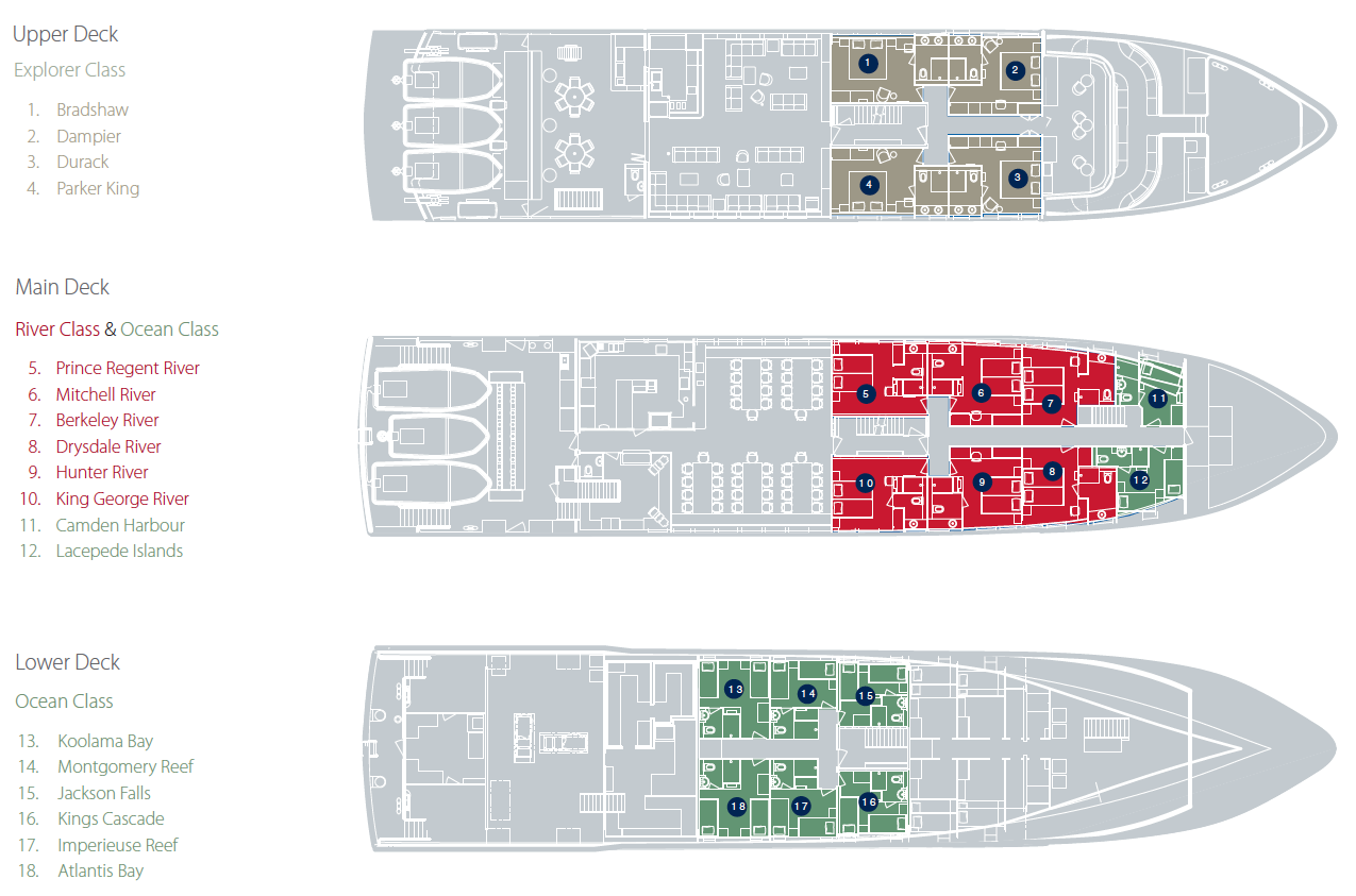 True North Deck Plan