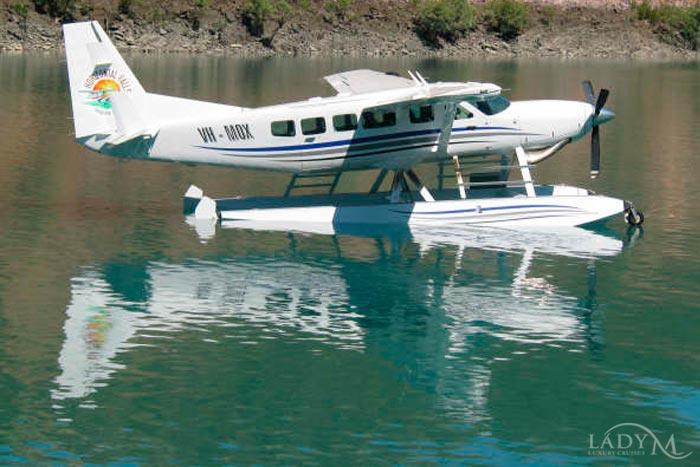 Horizontal Falls Seaplane flies to Red Cone or Talbot Bay