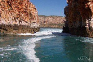 Tidal power of horizontal falls