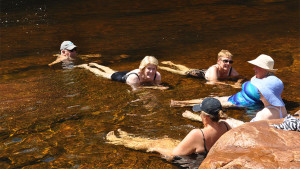 Eco Abrolhos relaxing in a creek