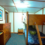 Eco Abrolhos king single bunk room middle deck