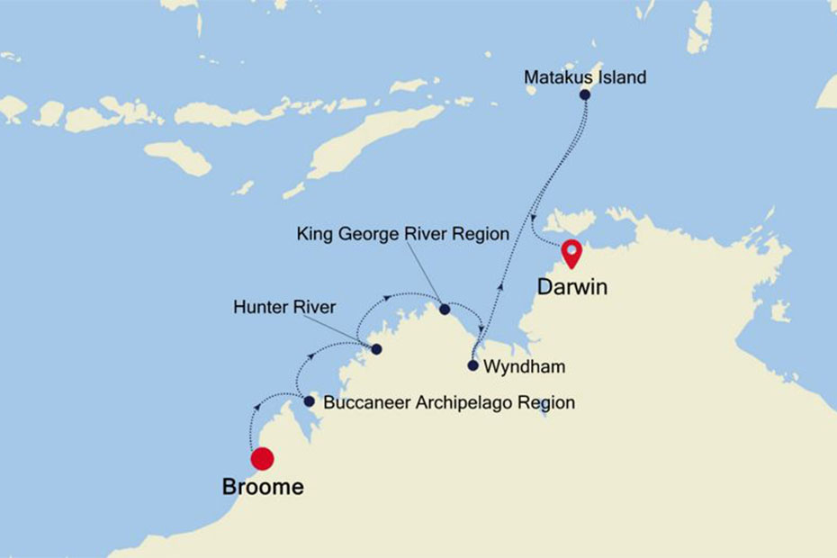 Silversea Broome to Darwin