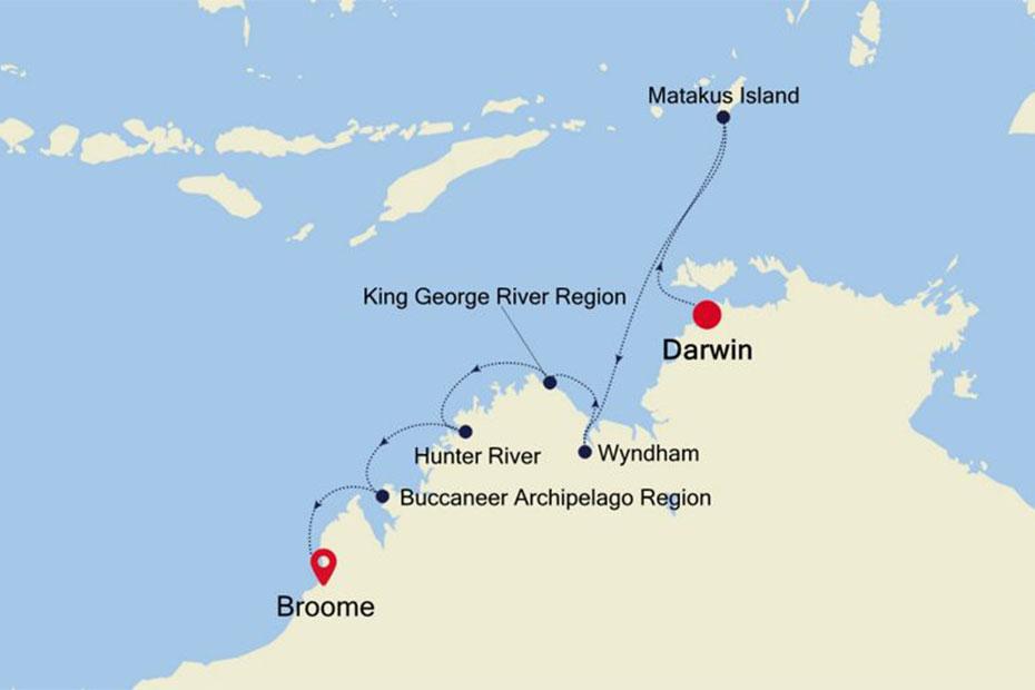 Silversea Darwin to Broome