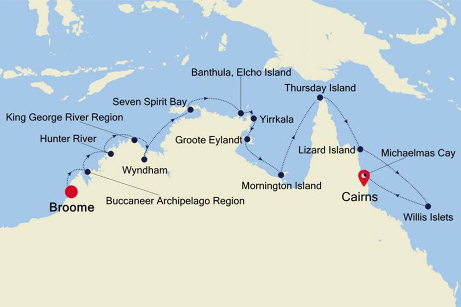 Silversea Broome to Cairns