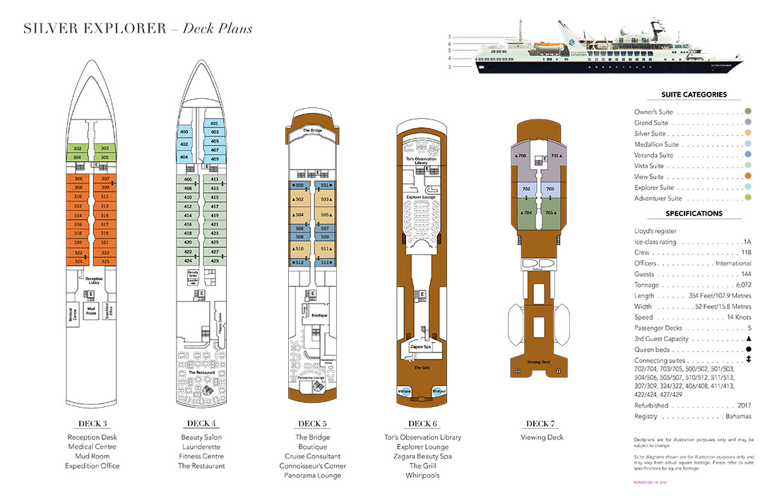 Silversea Explorer deck plan