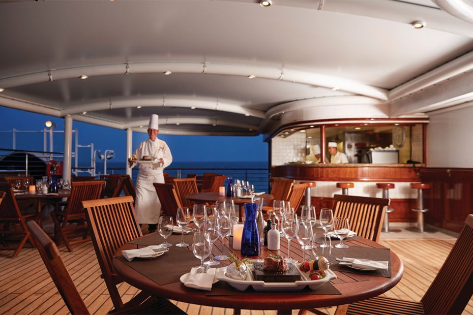 Silversea Silver Explorer the grill