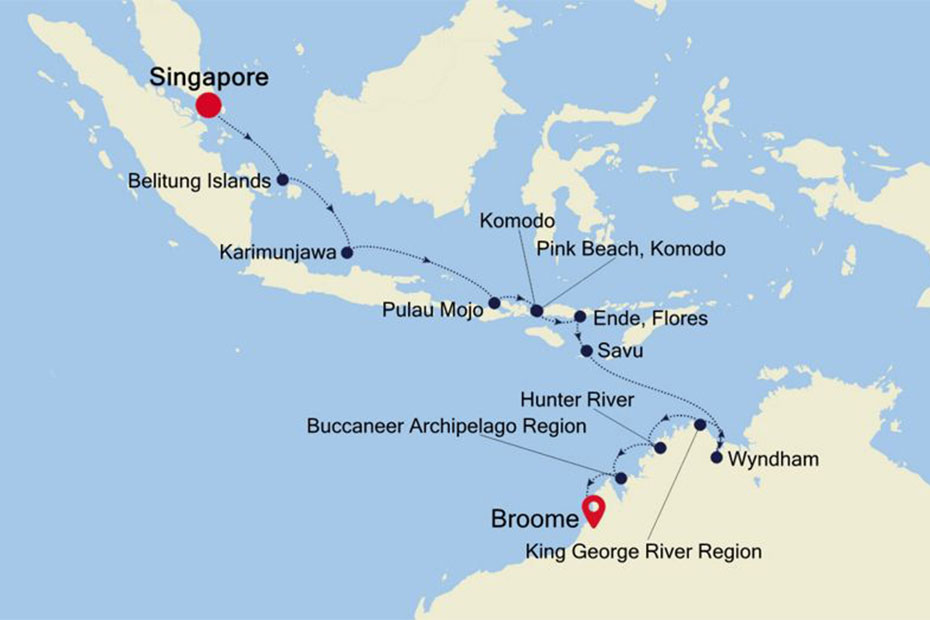 Silversea Singapore to Broome